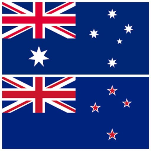 AU NZ flags icon