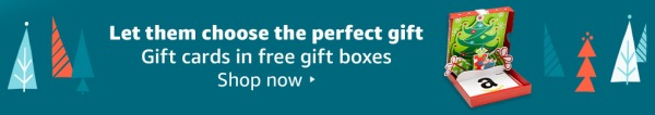 gifts cards in free gift boxes